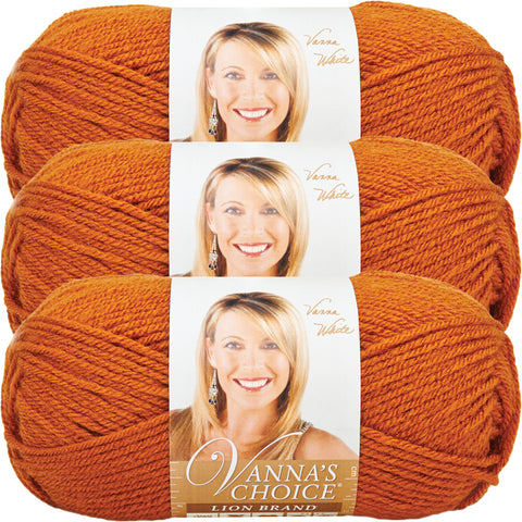 Lion Brand Vanna's Choice Yarn-Rust, Multipack Of 3