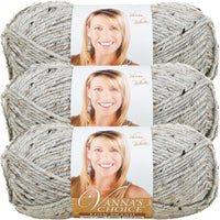 Lion Brand Vanna's Choice Yarn-Grey Marble, Multipack Of 3