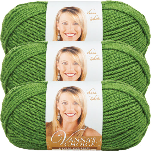 Lion Brand Vanna's Choice Yarn-Kelly Green, Multipack Of 3