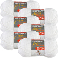 Bernat Softee Chunky Yarn-White, Multipack Of 6