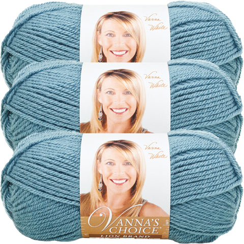 Lion Brand Vanna's Choice Yarn-Dusty Blue, Multipack Of 3