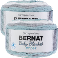 Bernat Baby Blanket Stripes Yarn Seaglass Multipack Of 2