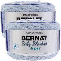 Bernat Baby Blanket Stripes Yarn Stonewash Multipack Of 2