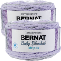 Bernat Baby Blanket Stripes Yarn Violets Multipack Of 2