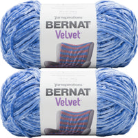 Bernat Velvet Yarn Rich Blue Multipack Of 2