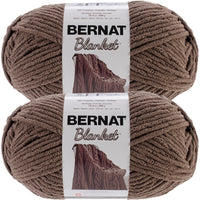 Bernat Blanket Big Ball Yarn Taupe Multipack Of 2