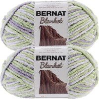 Bernat Blanket Big Ball Yarn Lilac Leaf Multipack Of 2