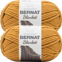 Bernat Blanket Big Ball Yarn Burnt Mustard Multipack Of 2