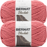 Bernat Blanket Big Ball Yarn Terracotta Rose Multipack Of 2