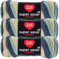 Red Heart Super Saver Stripes Yarn Sutherland Stripe Multipack Of 3