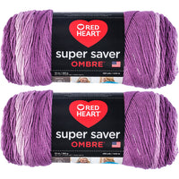 Red Heart Super Saver Ombre Yarn Purple Multipack Of 2