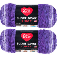 Red Heart Super Saver Ombre Yarn Violet Multipack Of 2
