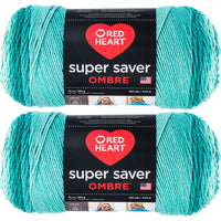 Red Heart Super Saver Ombre Yarn Spearmint Multipack Of 2