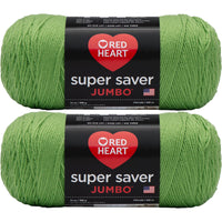 Red Heart Super Saver Jumbo Yarn Spring Green Multipack Of 2