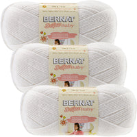 Bernat Softee Baby Yarn White Multipack Of 3