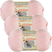 Bernat Softee Baby Yarn Baby Pink Marl Multipack Of 3