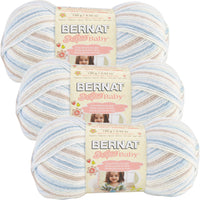 Bernat Softee Baby Yarn Ombres Little Boy Blue Multipack Of 3