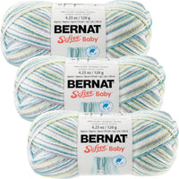 Bernat Softee Baby Yarn Ombres Prince Pebbles Multipack Of 3