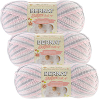 Bernat Softee Baby Yarn Ombres Pink Flannel Multipack Of 3