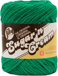 Lily® Sugar'n Cream® Cotton Yarn Mod Green Multipack Of 6