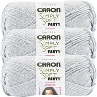 Caron® Simply Soft® Party Yarn Silver Sparkle Multipack Of 3
