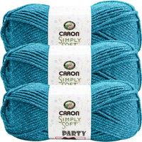 Caron® Simply Soft® Party Yarn Teal Sparkle Multipack Of 3