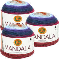 Lion Brand Mandala Yarn Griffin Multipack Of 3