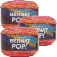 Bernat Pop! Yarn Scarlet Sizzle Multipack Of 3