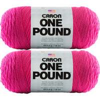 Caron One Pound Yarn Dark Pink Multipack Of 2
