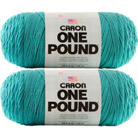 Caron One Pound Yarn Aqua 2pk