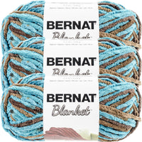 Bernat Blanket Yarn Mallard Wood Multipack Of 3