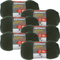 Bernat Softee Chunky Yarn Dark Green Multipack Of 6