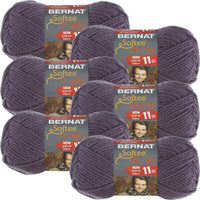 Bernat Softee Chunky Yarn Dark Mauve Multipack Of 6
