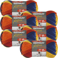 Bernat Softee Chunky Ombre Yarn School Yard Multipack Of 6
