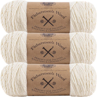 Lion Brand Fisherman's Wool Yarn Natural Multipack Of 3
