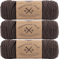 Lion Brand Fisherman's Wool Yarn Nature's Brown Multipack Of 3