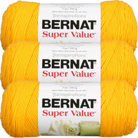 Bernat® Super Value™ Yarn Bright Yellow Multipack Of 3