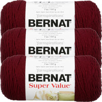 Bernat® Super Value™ Yarn Burgundy Multipack Of 3