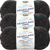 Lion Brand Heartland Yarn Black Canyon Tweed Multipack Of 3