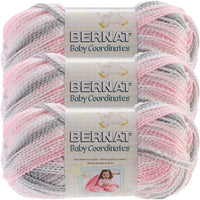 Bernat® Baby Coordinates™ Ombre Yarn Dove Girl Multipack Of 3