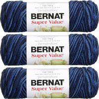 Bernat Super Value Ombre Yarn Denim Multipack Of 3