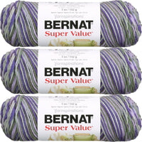 Bernat Super Value Ombre Yarn Fresh Lilac Multipack Of 3