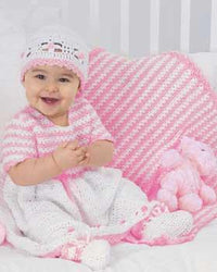 Bernat Baby Coordinates Sweet Striped Mini Blanket
