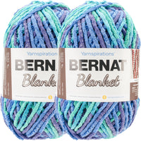 Bernat Blanket Big Ball Yarn Ocean Shades Multipack Of 2
