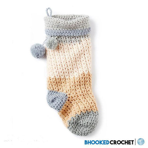 Bernat Pop Crochet Christmas Stocking