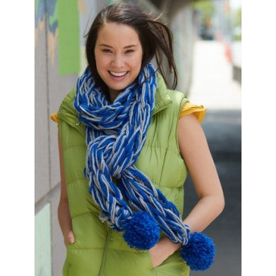 Bernat Softee Chunky Arm Knit School Spirit Scarf