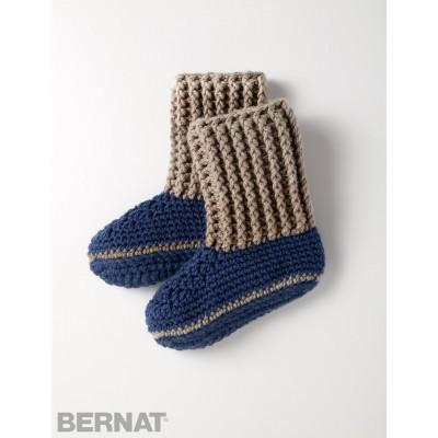 Bernat Softee Chunky Slipper Socks