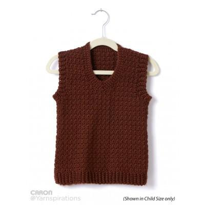 Caron Simply Soft Adult Crochet V Neck Vest