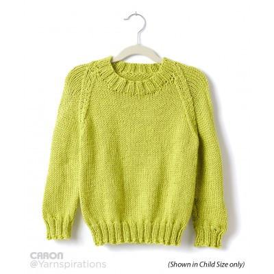 Caron Simply Soft Adult Knit Crew Neck Pullover