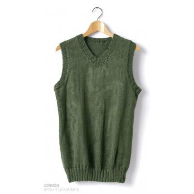 Caron Simply Soft Adult V Neck Vest